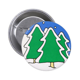 Let it snow Snow covered Christmas trees Pins