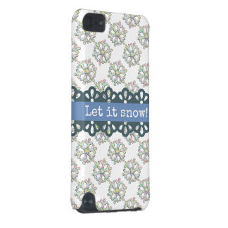 Let it Snow Snowflake Pattern Holiday iPod Touch 5G Cover