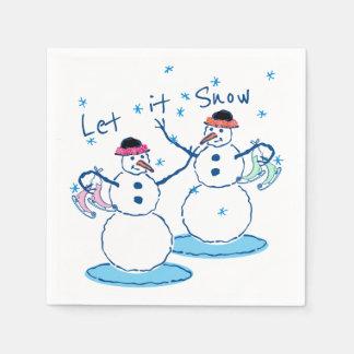 Let it Snow Snowladies Disposable Napkin