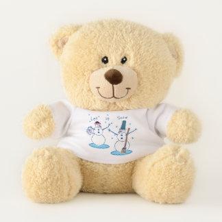Let it Snow Snowlady & Her Snowman Small Teddy Bear