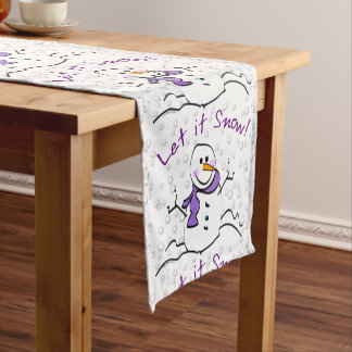 Let It Snow Snowman Table Runner