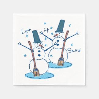 Let it Snow Snowmen Disposable Serviette