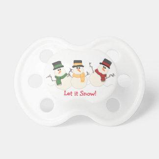 Let It Snow Snowmen Pacifier