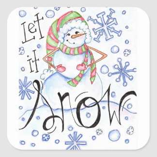 let-it-snow square sticker