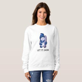 Let it Snow Sweatshirt of Snowman Ready to Ski