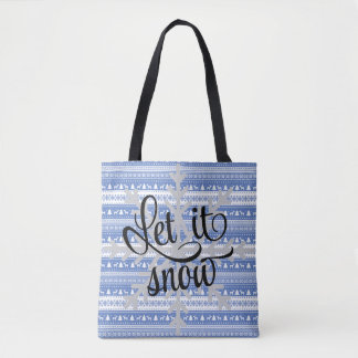 Let it Snow Tote Bag