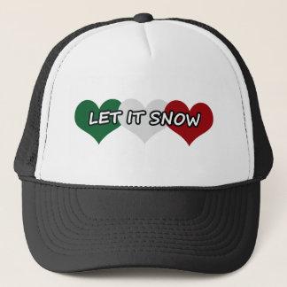 Let It Snow Triple Heart Trucker Hat