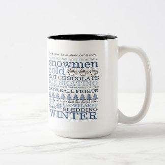 Let It Snow Two Tone Coffee Mug