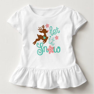 Let it snow - Winter Christmas Design Toddler T-Shirt