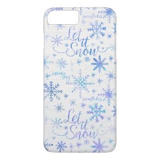 Let It Snow Winter Pattern iPhone 8 Plus/7 Plus Case