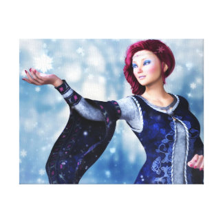Let It Snow Wrapped Canvas Print