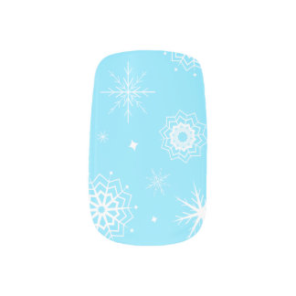 Let it Snowflakes! Minx Nail Art