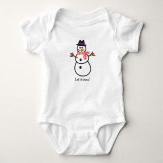 Let it Snowman! Baby Bodysuit