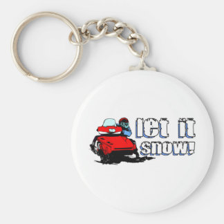Let It Snowmobile Key Ring