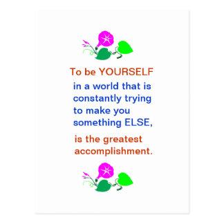 Let KIDS be KIDS : Wisdom words BE YOURSELF Postcard