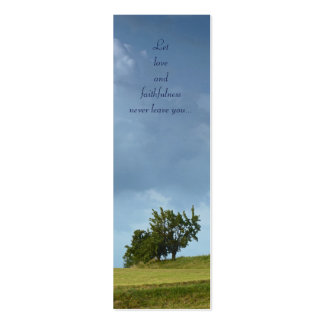 Let love and faithfulness - Proverbs 3 - Bookmark Business Card