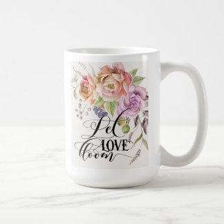 Let Love Bloom Classic White Mug