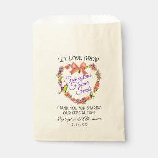 Let Love Grow Flower Seed Bag | Springtime Wedding