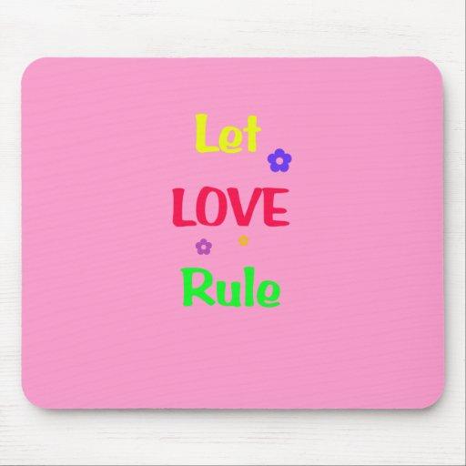 Let Love Rule Mousepads