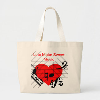 Let Make Sweet Music Large Tote Bag