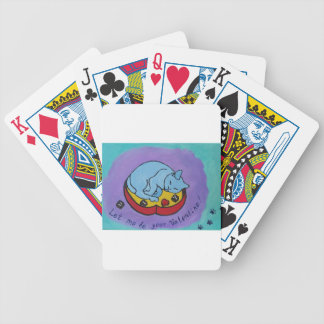 Let me be your Valentine Bicycle Playing Cards