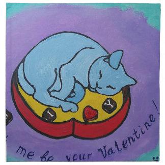 Let me be your Valentine Napkin