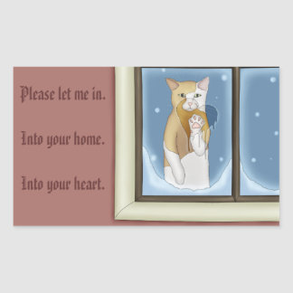 Let Me Into Your Heart Rectangular Sticker