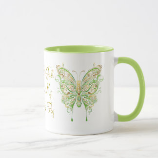Let me just spread my wings and fly butterfly mug