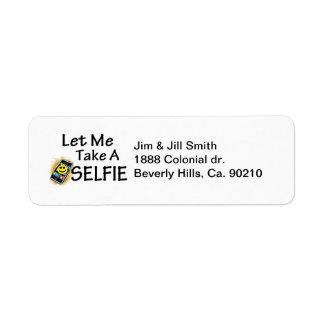 Let Me Take A Selfie Return Address Label