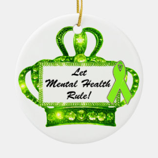 """Let Mental Health Rule!"" Tiara Ornaments"