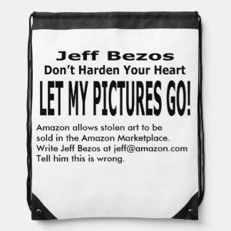Let My Pictures Go! Drawstring Backpacks