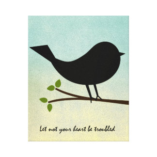 Let Not Your Heart be Troubled Bible Verse Canvas Print