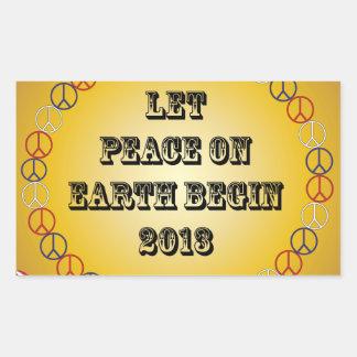 Let Peace on Earth Begin 2013 Rectangle Sticker