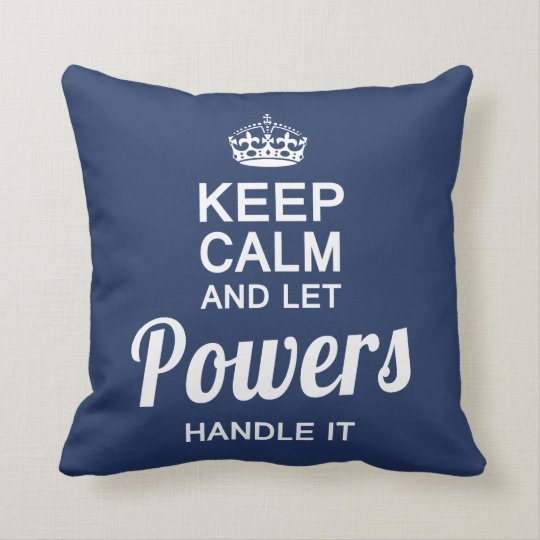 Let POWERS handle It! Cushion