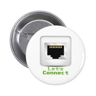 Let s Connect Pinback Button