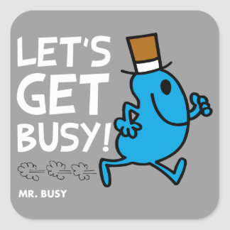 Let s Get Busy white text Stickers