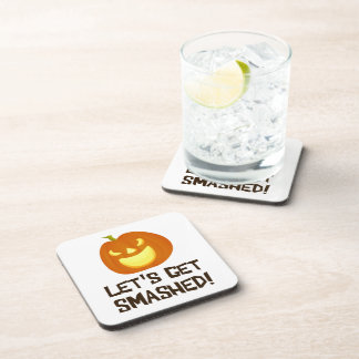 Let s Get Smashed Halloween Party Drink Coasters
