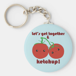 Let's Get Together and Ketchup! Kawaii Tomatoes Key Ring