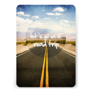 Let s go on a road trip custom invitations