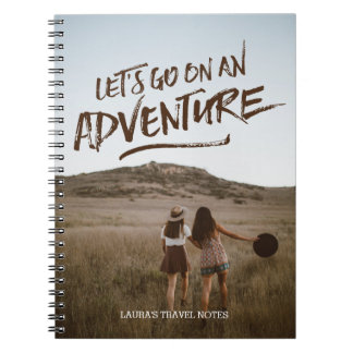 Let's Go On An Adventure Typography Photo Template Notebook