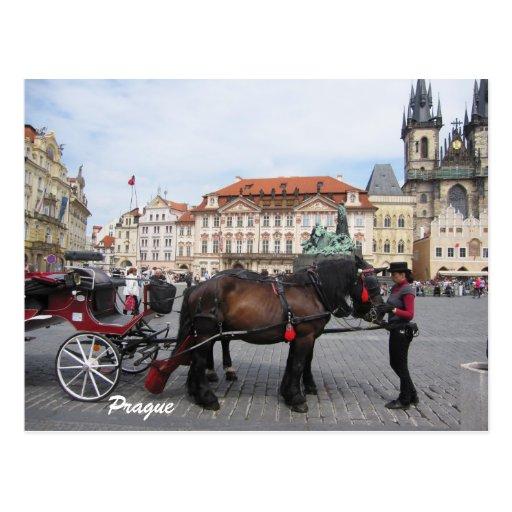 Let´s go sightseeing in Prague Postcard