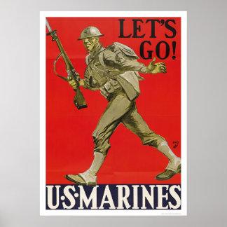 Let s Go U S Marines Print