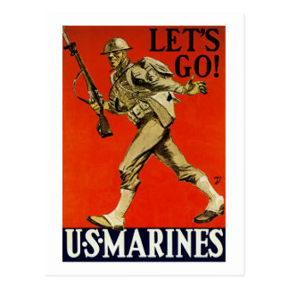 Let s Go US Marines Postcards