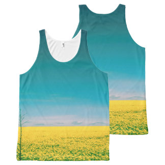 Let's go wait out in the fields All-Over print singlet