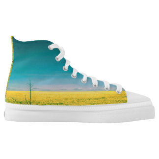 Let's go wait out in the fields high tops