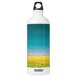 Let's go wait out in the fields water bottle