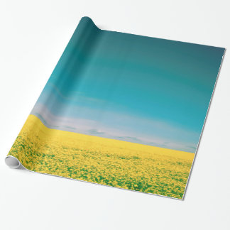 Let's go wait out in the fields wrapping paper
