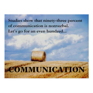 Let s improve our communications skills post card
