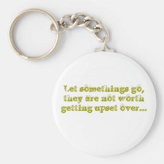 Let somethings go key ring