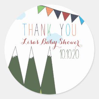 Let the Adventure Begin Baby Shower Classic Round Sticker